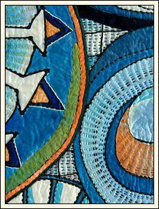 Hand stitching by Marianne Burr