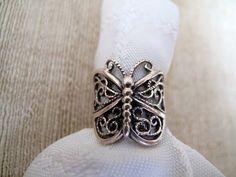 Vintage Sterling Butterfly Ring by mimiyaya on Etsy, $18.00