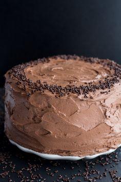Simple Chocolate Birthday Cake with Whipped Chocolate Buttercream   halfbakedharvest.com
