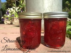 If you like strawberry lemonade, then you will love this easy homemade strawberry lemonade jam. Yum!
