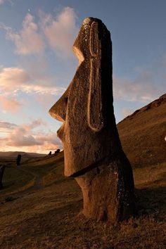 Easter Island (Polynesian island in the southeastern Pacific Ocean). One of 887 moai statues, created by the early Rapa Nui people.