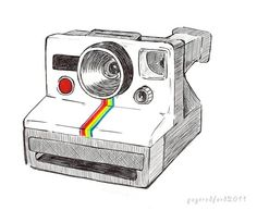 The Polaroid Land Camera is one of my favorite cameras. Camera Sketches, Camera Drawing, Camera Art, Art Sketches, Polaroid Vintage, Vintage Cameras, Poloroid Camera, Mug Rug Patterns, Vintage Drawing