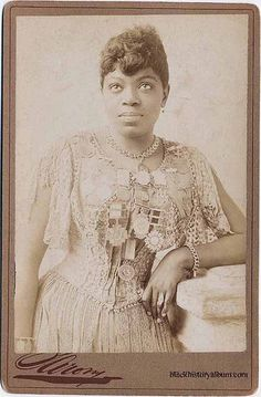 Sissaretta Jones , A Black Paddy Singer, 1885 by Black History Album, via Flickr