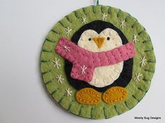 Wool Felt Baby Penguin Ornament First by WoollyBugDesigns on Etsy, $15.00