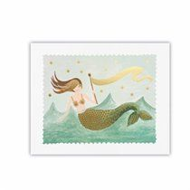 "Vintage Mermaid Art Print – 8"" x 10"""