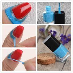 Born Pretty Blue Liquid Tape & Peel Off Finger Protected Glue Base Coat Nail Polish Nail Art Liquid Easy Clean Nail Art Latex