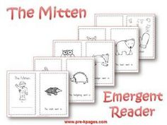 Printable emergent reader to go along with The Mitten via   www.pre-kpages.com/winter/