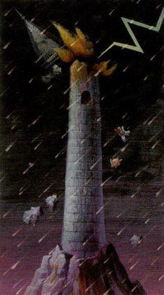 The Tower Card Art  |  Tarot of the Magical Forest | Tarot Deck Art | Oracle Cards | Major Arcana | Divination