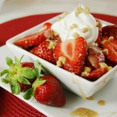 Strawberries with Toffee Sauce