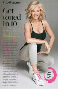 Get Toned in 10 with My SHAPE Magazine Star Workout performed by Jenny McCarthy. (article by Jeanine Detz & photos by Nino Munoz)