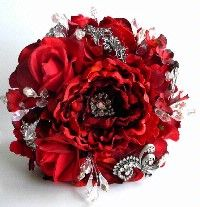 flower bouquet with brooch