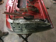 A master of metal has been at work removing the nasty bits from the door front (shown here on top) and fitting a new piece in!