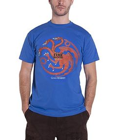 Game Of Thrones Targaryen Fire and Blood Official Mens New Blue T Shirt - http://bandshirts.org/product/game-of-thrones-targaryen-fire-and-blood-official-mens-new-blue-t-shirt/
