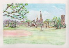 Frederick Maryland Art Print Baker Park by ValerieNusbaumAandD