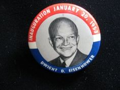 1953 IKE Inauguration Pinback Button @ Vintage Touch - SOLD