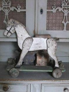 vintage toy horse