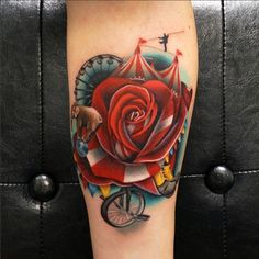 This rose-circus morph has everything a big top needs, including a little elephant...by Andres Acosta