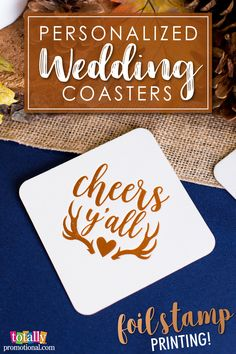 Create spectacular yet elegant, letter press foil-stamped wedding coasters for your guests! Select a shiny or matte finish to add a unique flare to your celebration!  Choose from hundreds of artwork design options and use our state-of-the-art Design Ideas tool to showcase your name, wedding date or message on these premium napkins! Use coupon code PINNER10 and receive 10% off your coaster order! Sale applies to piece price only, not valid with other coupon codes and expires April 4, 2017!