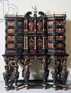 Ebony cabinet with inlays, made by Leonard van der Vinne (active mid-1600-1713), Italy, 17th century