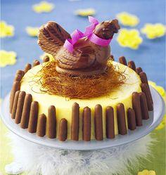 Gâteau bavarois Poule au nid - Dessert de Pâques
