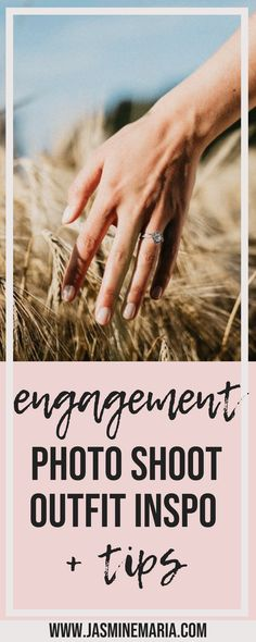 Engagement Photo Shoot Outfit + Tips #engagementphotos #photographytips #engagementoutfit #summerengagement #weddingplanning #weddingtips