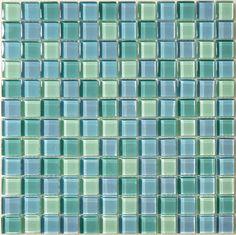 Gorgeous Coastal Glossy Glass Tile in Ocean Pool !