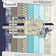 Sorta' Shabby Summer mini-kit by Mommyish - FREE at Sweet Lilac Studio. Coordinates with Cottage Blues kit by Sweet Lilac Studio.