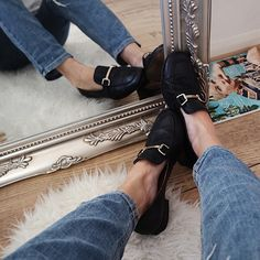Gucci Dupe Black Leather Loafers