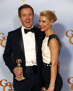 Damian Lewis et Claire Danes à la 69e cérémonie des Golden Globes, le 15 janvier 2012, par #VanityFair #Homeland #AwesomeSerie