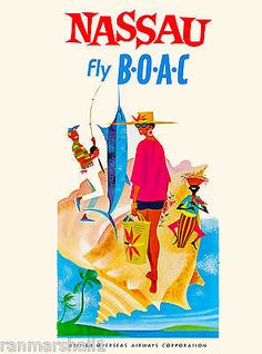 Discovers The Wonders Found In The Islands Of The Bahamas – Beaches To See Beach Honeymoon Destinations, A4 Poster, Poster Wall, Nassau Bahamas, Vintage Travel Posters, Vintage Airline, Advertising Poster, Ads, Island Beach