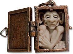 """Dawn Schiller's OddFae in a 1"""" locket. Wonderful details!!"""