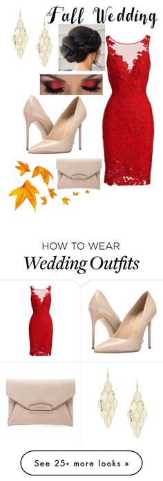 """Fall Wedding: Guest"" by whynterthyme on Polyvore featuring ML Monique Lhuillier, Massimo Matteo, Givenchy and fallwedding"