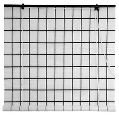"""48"""" Tatami Shoji Roll Up Blinds by ORIENTAL FURNITURE. $40.00. Choose 2, 3, or 4 Feet Wide - Fits Any Window Up to 6 Feet Long - Easy Mount Design. Browse Our Wide Selection of Roll Up Shoji Paper or Bamboo Matchstick Blinds. Install on Window Frame - Choose a Size Wider Than Window Opening. Black Lacquered Top and Bottom Bar - Black Faux Lattice Grid on Shoji Shade. Ships Next Business Day, Pro. Packed & Insured from Boston via FedEx - Expedited Deliv. Available. Unique desi..."""