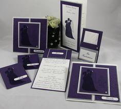Hochzeitspapeterie - Traumhochzeit - Handgefertigt mit viel Liebe zum Detail.  Verwendete Materialien alle von Stampin´Up!