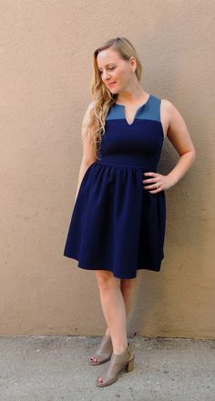 Aubrey Dress - Nobella Grace Boutique! Gorgeous Everly dress with two amazing shades of blue! #nobellagrace #Everlyclothing