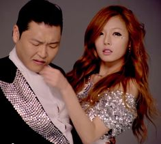 Psy and Hyuna. Psy Kpop, Psy Daddy, Psy Gangnam Style, Prettiest Celebrities, Hyuna, E Dawn, Ranveer Singh, Korean Actresses, Cute Makeup