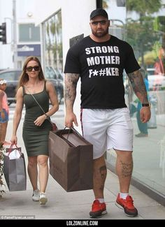 The mountain (from Game of Thrones) and his girlfriend