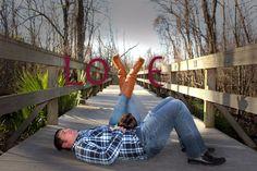 Cute engagement picture idea!