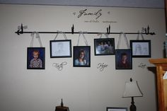 Curtain rod for hanging pictures