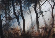 Watercolor paintings by Russian artist Ilya Ibryaev