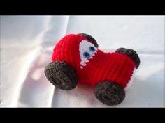 Amigurumi red car - piros verda crochet tutorial horgolás oktató