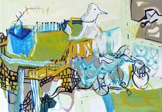 "Saatchi Art Artist Elham Etemadi; Painting, ""Our Neighborhood, sold"" #art"