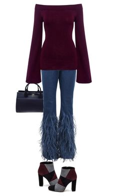 Ostrich Jeans by terry-tlc on Polyvore featuring Finders Keepers, Michael Kors, Roberto Festa, Chanel, women, fashionset and polyvoreeditorial