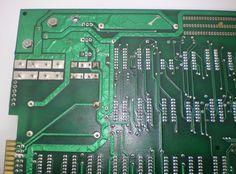 Apple 1 NTI back pcb solder