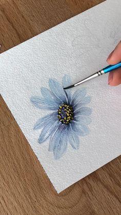Watercolor Art Lessons, Watercolor Paintings For Beginners, Watercolor Landscape Paintings, Watercolor Techniques, Watercolour Painting, Watercolor Video, Watercolor Sketch, Drawing Techniques, Watercolors