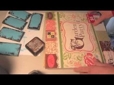 Mini Scrapbook Recycle Toilet Paper Rolls Pocket Book Step 3 Tutorial - YouTube
