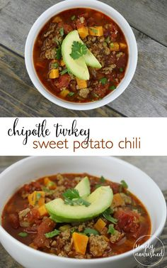 Chipolte Turkey & Sweet Potato Chili http://simplynourishedrecipes.com/chipotle-turkey-and-sweet-potato-chili/