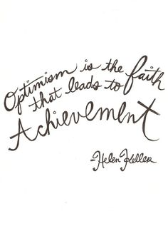 the eternal optimist.