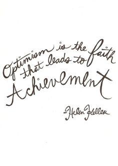 the eternal optimist.