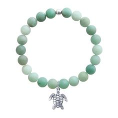 Sea Turtle Bracelet with Green Quartz